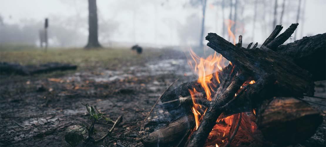 MAKING FIRE IN THE RAIN
